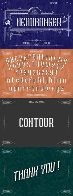 Headbanger. Best Fonts Cool Fonts, New Fonts, Gothic Fonts, Display, Lyrics, Floor Space, Billboard