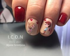 nail designs for fall nail designs for short nails easy holiday nail stickers nail art stickers at home nail art strips nail art designs 2019 short nail designs 2019 nail art stickers online self adhesive nail stickers full nail stickers Valentine's Day Nail Designs, Elegant Nail Designs, Best Nail Art Designs, Short Nail Designs, Elegant Nails, Beautiful Nail Designs, Cute Nails, Pretty Nails, Valentine Nail Art