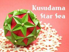 【折り紙】クリスマスカラーのくす玉 by Tomoko Fuse   大人の折り紙インテリア