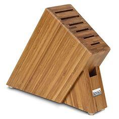 Enso 7-slot Bamboo Slim Knife Block