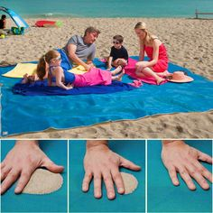 Sand Free Rug - Portable Beach Rug - Keep Your Surfaces Sand, Dirt, and Dust Free! Perfect For The Beach, Park, or Picnic - A Vacation Necessity! - Military Grade Technology - Easy Clean and Quick Dry!
