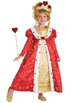 Red Heart Princess Child Costume- Child Queen of Hearts Costumes