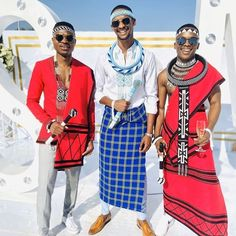XHOSA TRADITIONAL ATTIRE African Fashion Skirts, South African Fashion, African Fashion Designers, African Traditional Wear, Traditional Fashion, Xhosa Attire, African Fabric, African Prints, Couple Outfits