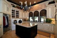 This is an awesome laundry room.