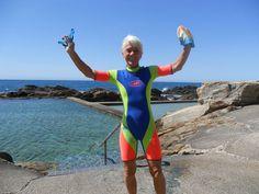 """Neon Wettie"" at Blue Pool in Bermagui in NSW/Australia"