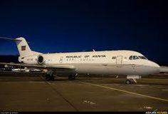 Image result for Kenya President's Jet (Fokker 70)
