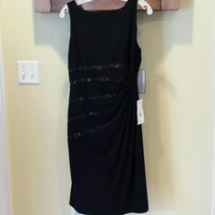 LBD...new. never worn from LORD&TAYLOR Has lace detail and rushed design in middle. Bought at Lord &Taylor. Anne Klein Dresses
