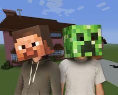Minecraft Steve Head Costume