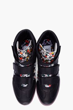 ADIDAS ORIGINALS BY O.C. Black Floral Samba Sneakers