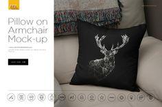 Pillow on Armchair Mock-up Generator @creativework247