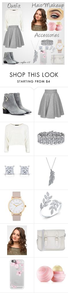 """GrayBlizzard"" by xo-zafia-xo ❤ liked on Polyvore featuring Nicholas Kirkwood, MSGM, Palm Beach Jewelry, Kevin Jewelers, Stone Paris, The Horse, The Cambridge Satchel Company, Casetify and Eos"