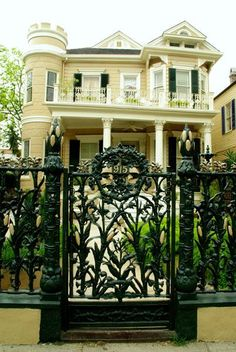 I love the wrought iron cornstalk fence in front of---what else? The Cornstalk Hotel in New Orleans, New Orleans Hotels, New Orleans Travel, Beautiful Homes, Beautiful Places, Beautiful Buildings, Southern Homes, Country Homes, Southern Charm, New Orleans Louisiana