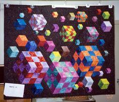 "The Quilt Index -- ""Space Quest"" - I believe the maker is Stephanie McCormick -- in the collection of Michigan State University"