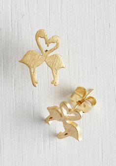 In Other Birds Earrings in Gold