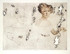 Jiří Anderle / Jiri Anderle  Elise Höfer  lept / etching, 1980, opus 189  49,5 x 66 cm
