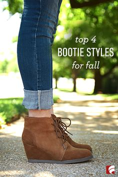 No matter what style you choose, booties say a lot about your personality: You're tough but sleek, prepared to take on the world's challenges and ready to kick some you-know-what – while still managing to flawlessly match your outfit with your handbag. But the real beauty of booties lies in the range of options you have for pairing them with fall-friendly fashion. Here are our top 4 bootie styles for fall.