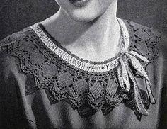 Green Crocheted Collar crochet pattern originally published in Paris Sponsors Crochet, Spool Cotton Co #46.
