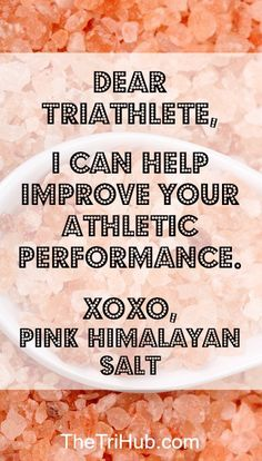 How Himalayan Pink Salt Can Improve Your Athletic Performance #swimbikerun…