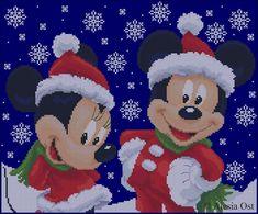 Mickey's Christmas Free Cross Stitch Pattern