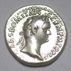 Husband gift Dad Gift Domitian AR Denarius by AncientCoinstore