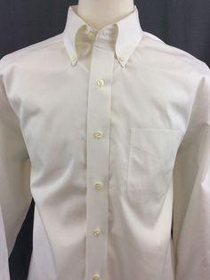 Men's JOS A BANK Travellers Collection Tailored Fit Long Sleeve Shirt 17 1/2-34 #JosABank