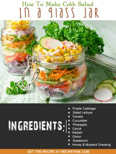 30 Minute Meals   Welcome to how to make cobb salad in a glass jar recipe from…
