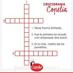 Llena las casillas del crucigrama y #DiviérteteConCopelia www.alimentoscopelia.com