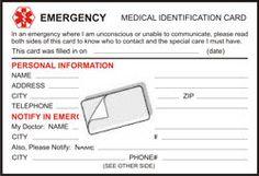 free printable medical id cards create update medids free wallet card
