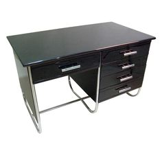 Bauhaus Style Desk | From a unique collection of antique and modern desks and writing tables at http://www.1stdibs.com/furniture/tables/desks-writing-tables/