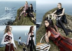 Dior Campaña Otoño-Invierno 2015/2016 llega en forma de un homenaje a la salvaje naturaleza, contando como escenario en Granville, con un rocoso paisaje