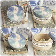 #декупаж #рукоделие #decoupage #handmade #box #moon #lullaby #baby #настяворонина