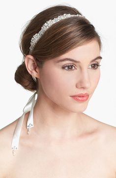 1920s headband, wedding accessory Tasha Serena Head Wrap - Metallic $88.00 AT vintagedancer.com