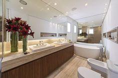 banheiros grandes marmore travertino bide