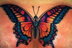 Colorful Butterfly Tattoo Design | Tattoobite.com