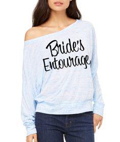 Bride's Besties Flowy Dolman Shirt. Flow by beforethebells on Etsy