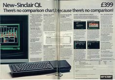Sinclair QL two page advert from Sinclair User issue 24