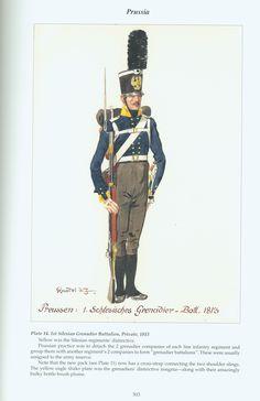 Prussia: Plate 14. 1st Silesian Grenadier Battalion, Private, 1813
