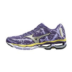 25e894c095 Mizuno Mulberry Purple & Silver Wave Creation 16 Running Shoe ($75) ❤ liked  on