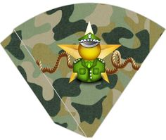 Kit De Aniversário Digital Menino Exército (Camuflado) - Convites Digitais Simples