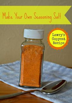 Copycat Lawrys Seasoning Salt Recipe - Make Your Own Seasoning Salt Cantaloupe, Salt, Fruit, Cooking, Recipes, Food, Baking Center, Eten, Salts