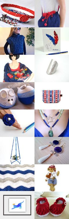 Lovely Sunday by Rosa on Etsy--  #etsy #treasury #red #white and #blue #patriotic #basket #bowl #4th of #July #necklace Pinned with TreasuryPin.com