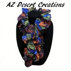 Disco Sashay Ruffle Scarf Truffle Scarf Handmade | DesertCreations - Accessories on ArtFire #ckdin