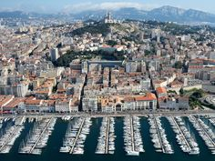 Once a highly active maritime dock, The Old Port of Marseille is now a designated  marina used by residents and travelers.