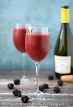Wine Smoothie - made with frozen berries and wine