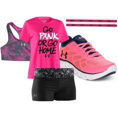 Perfect Under Amour workout by smileyalfredo on Polyvore