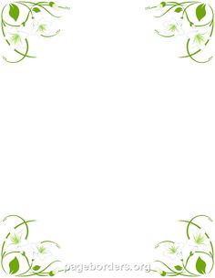 Free Easter Lily Border Templates Including Printable Border Paper And Clip  Art Versions. File Formats Include GIF, JPG, PDF, And PNG.  Free Microsoft Word Border Templates