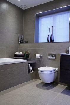 Серые тона в интерьере ванной