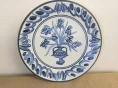 Hand Painted Crown Lynn 'Werk' Delft Style Plate for sale on Trade Me, New Zealand's auction and classifieds website Plates For Sale, Delft, Ceramic Pottery, New Zealand, Porcelain, Hand Painted, Crown, Ceramics, Stuff To Buy