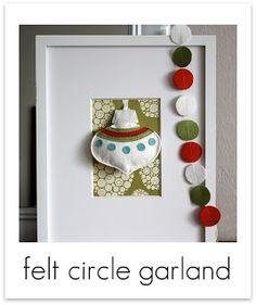 Felt circle garland