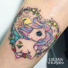 Sweet Tattoos, Girly Tattoos, Dream Tattoos, Badass Tattoos, Time Tattoos, Disney Tattoos, Body Art Tattoos, Cool Tattoos, My Little Pony Tattoo